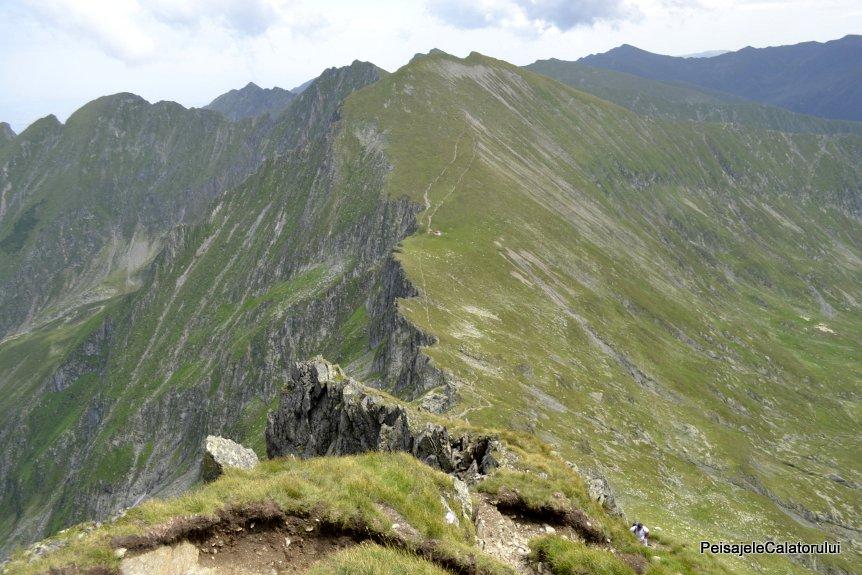 Franjurii crestei Fagarasului (30 Km) cu cei mai inalti munti din tara
