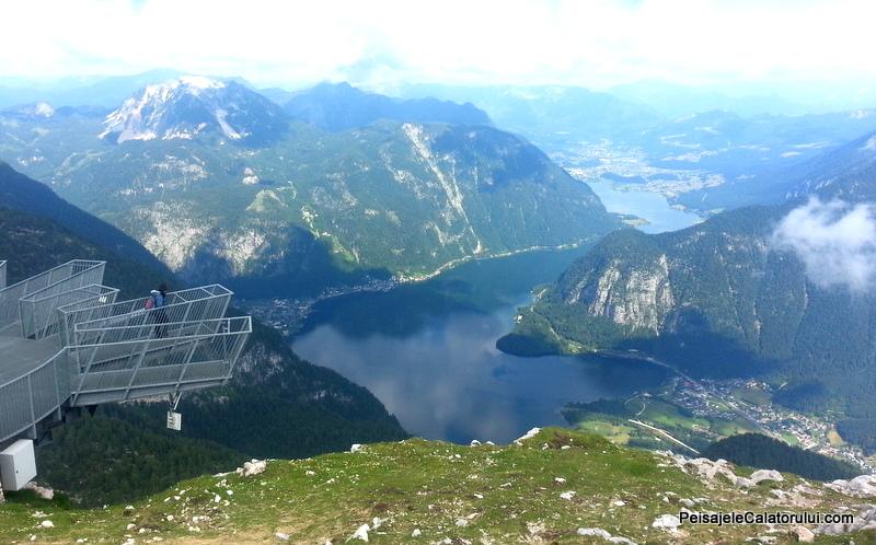 Lacul Halllstat, Obertaul si Hallstatt vazut de pe 5-fingers