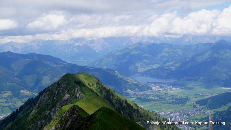 Vedere asupra lacului Zeel am See de pe traseul de trekking Alexander Enzinger Weg,-Kaprun